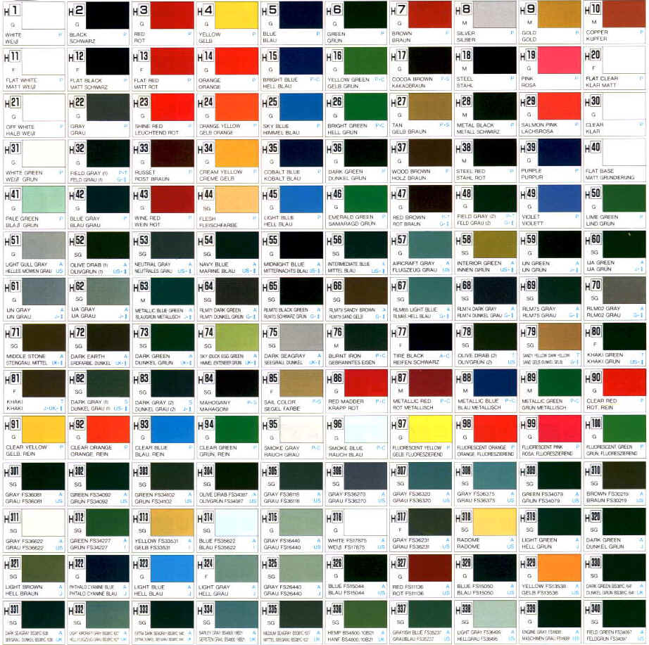 Color reference charts gunze sangyo aqueous map colormapgunzeg 141360 bytes geenschuldenfo Images