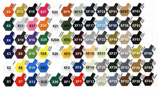color reference charts tamiya color map - Tamiya Color